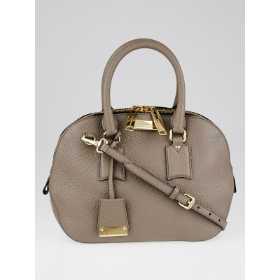 Burberry Grey Grain Leather Small Orchard Satchel Bag