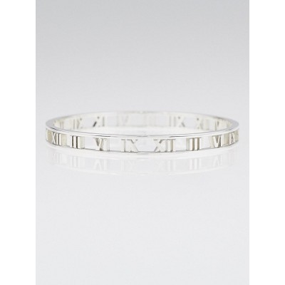Tiffany & Co. Sterling Silver Atlas Narrow Bangle Bracelet