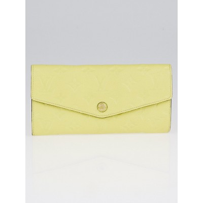 Louis Vuitton Citrine Monogram Empreinte Curieuse Wallet