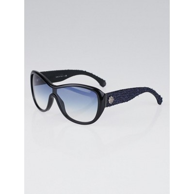 Chanel Blue Frame Tweed Sunglasses-5242