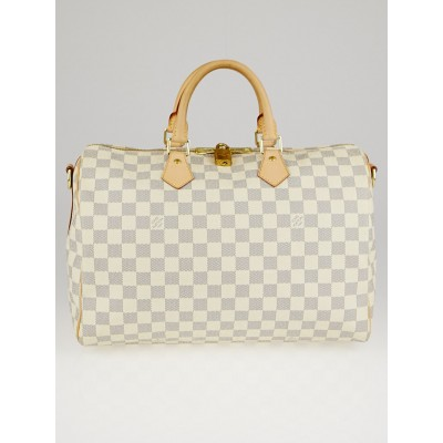 Louis Vuitton Damier Azur Canvas Speedy Bandouliere 35 Bag w/o strap