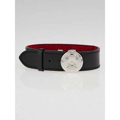 Louis Vuitton Black Leather Wish Bracelet