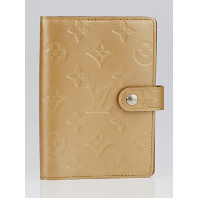 Louis Vuitton Ambre Monogram Mat Small Agenda/Notebook Cover