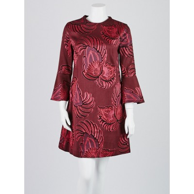 Stella McCartney Red Wool Blend Embroidered Dress Size 8/42