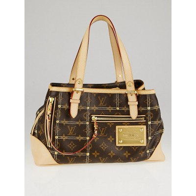 Louis Vuitton Limited Edition Monogram Canvas Riveting Bag