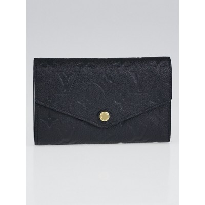 Louis Vuitton Black Monogram Empreinte Leather Curieuse Compact Wallet