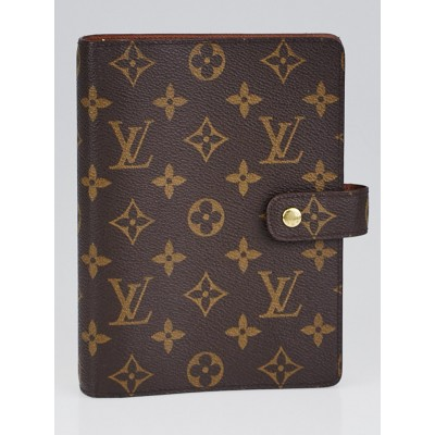 Louis Vuitton Monogram Canvas Medium Ring Agenda Cover