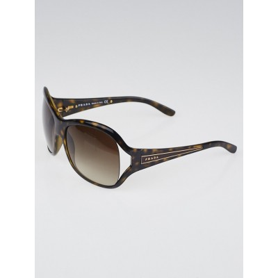 Prada Brown Tortoise Shell Frame Oversized Sunglasses SPR05L