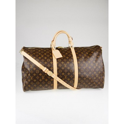 Louis Vuitton Monogram Canvas Keepall Bandouliere 60 Bag