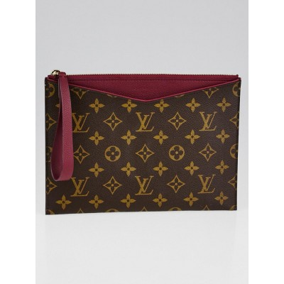 Louis Vuitton Aurore Monogram Canvas Pochette Pallas Clutch Bag