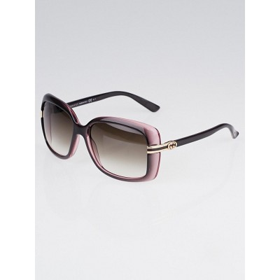 Gucci Brown/Pink Frame Rectangle Sunglasses-3188/S