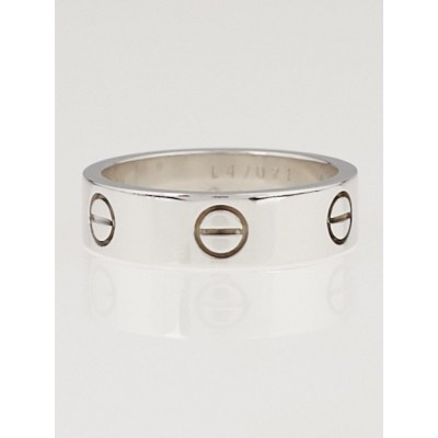 Cartier 18k White Gold LOVE Ring Size 56/7.5