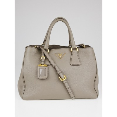 Prada Argilla Vitello Daino Leather Tote Bag BN2579