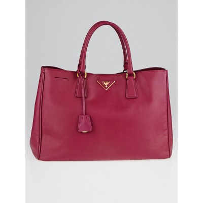 Prada Bruyere Saffiano Lux Leather Large Tote Bag