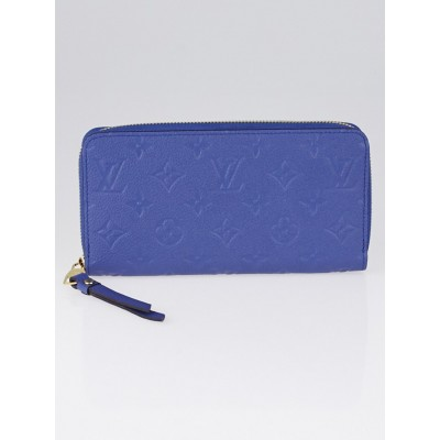 Louis Vuitton Denim Monogram Empreinte Leather Zippy Wallet