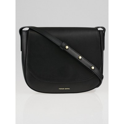 Mansur Gavriel Black Vegetable Tanned Leather Crossbody Bag