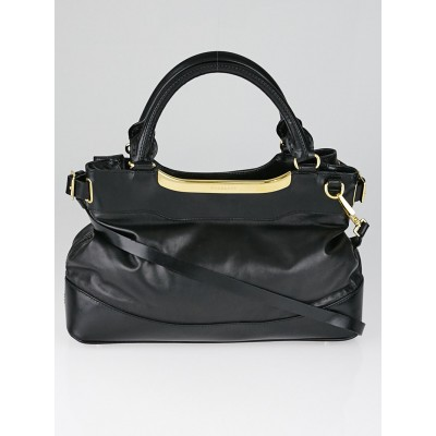 Burberry Black Soft Leather Small Hepburn Bag