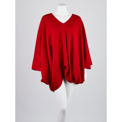 St. John Red Wool Blend Dolman Sleeve Sweater Size M/L