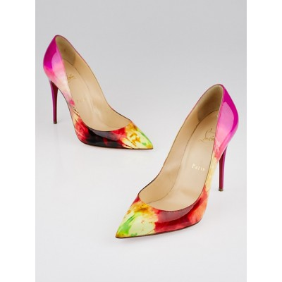 Christian Louboutin Tie-Dye Patent Leather So Kate 120 Pumps Size 9.5/40