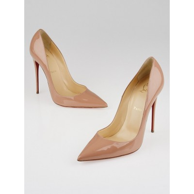 Christian Louboutin Nude Patent Leather So Kate 120 Pumps Size 10/40.5