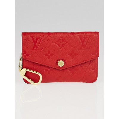Louis Vuitton Cerise Monogram Empreinte Leather Pochette Cles Key and Change Holder