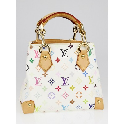 Louis Vuitton White Monogram Multicolore Audra Bag