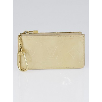 Louis Vuitton Beige Monogram Vernis Pochette Cles Key and Change Holder