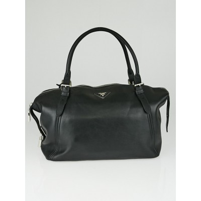 Prada Black Soft Calf Leather Satchel Bag BR4998