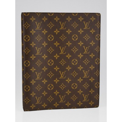 Louis Vuitton Monogram Canvas Large Ring Agenda/Notebook Cover