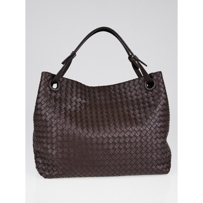 Bottega Veneta Ebano Intrecciato Woven Nappa Leather Cinch Tote Bag