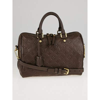 Louis Vuitton Terre Monogram Empreinte Leather Speedy 30 Bag