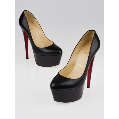 Christian Louboutin Black Kid Leather Victoria 160 Platform Pumps Size 7/37.5