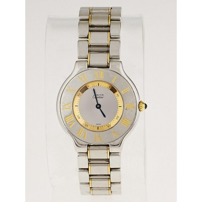 Cartier Stainless Steel and Gold Plated 21 Must De Cartier Ladies Watch