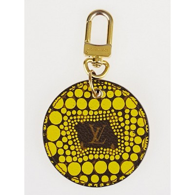 Louis Vuitton Limited Edition Yayoi Kusama Yellow Monogram Waves Key Holder and Bag Charm