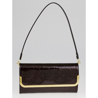 Louis Vuitton Amarante Monogram Vernis Rossmore MM Clutch Bag