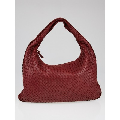 Bottega Veneta Eclipse Intrecciato Woven Nappa Leather Large Veneta Hobo Bag