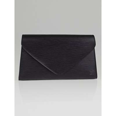 Louis Vuitton Black Epi Leather Arts-Deco Clutch Bag