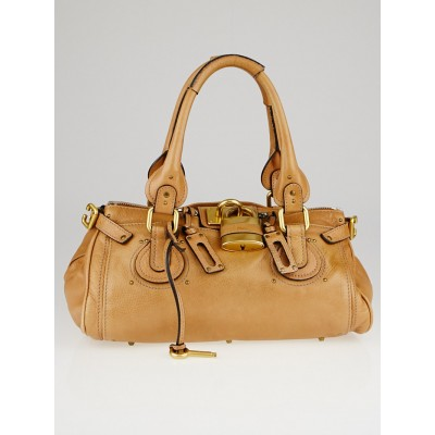 Chloe Tan Leather Medium Paddington Satchel Bag
