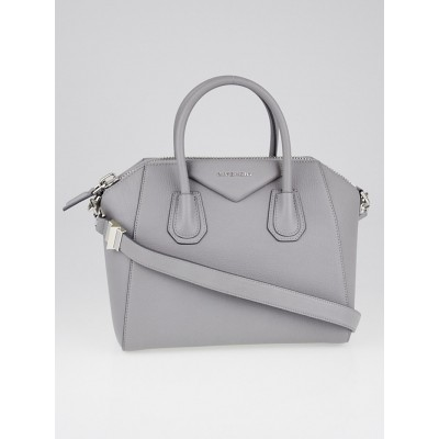 Givenchy Pearl Grey Sugar Goatskin Leather Small Antigona Bag