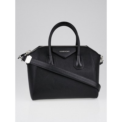 Givenchy Black Sugar Goatskin Leather Small Antigona Bag