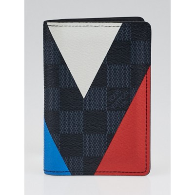 Louis Vuitton Damier Graphite Cobalt Regatta Canvas Pocket Organizer Wallet