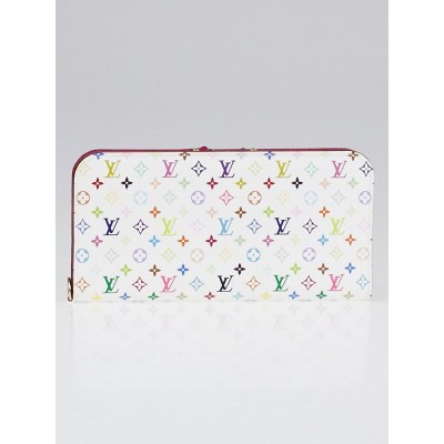 Louis Vuitton White Monogram Multicolore Fuchsia Insolite Wallet