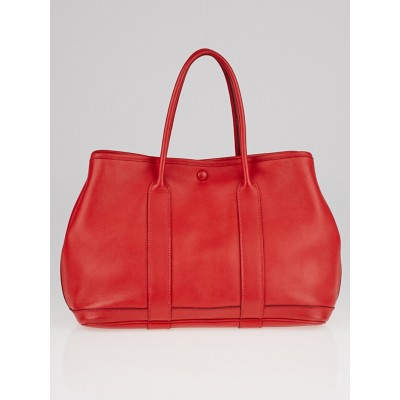 Hermes Rouge Garrance Swift Leather Garden Party TPM Bag