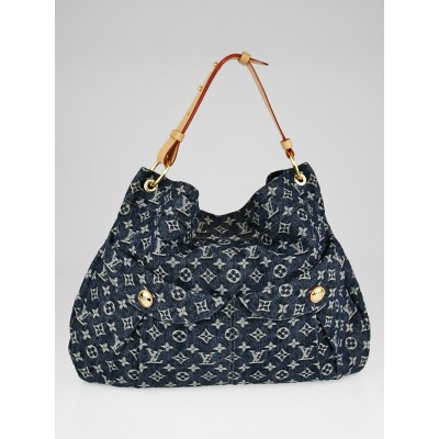 Louis Vuitton Blue Denim Monogram Denim Daily GM Bag