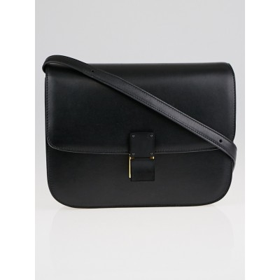 Celine Black Leather Medium Classic Box Bag
