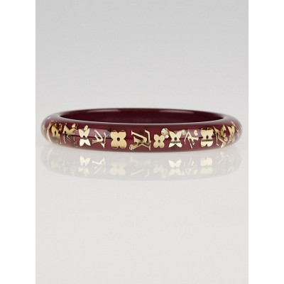 Louis Vuitton Rouge Fauviste Monogram Inclusion PM Bracelet
