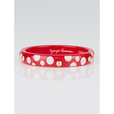 Louis Vuitton Limited Edition Yayoi Kusama Red Dots Infinity Bangle PM Bracelet Size M