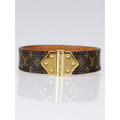Louis Vuitton Monogram Canvas Nano Spirit Bracelet Size 17