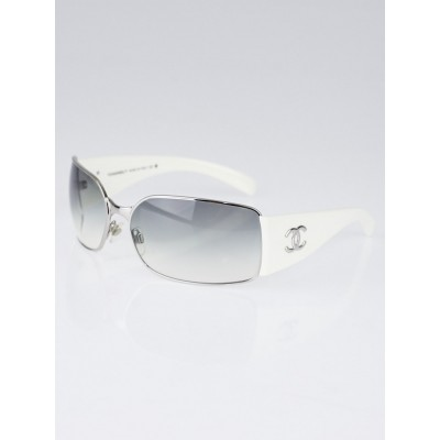 Chanel White Gradient Tint Frameless CC Sunglasses- 4115