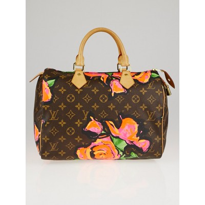 Louis Vuitton Limited Edition Stephen Sprouse Roses Speedy 30 Bag